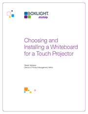 Whitepaper_ChoosingaWhiteboardforYourTouchprojector