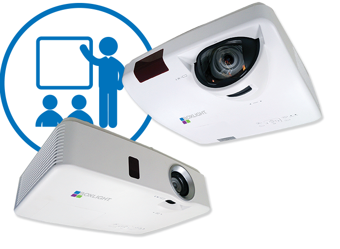 Boxlight Short and standard-throw classroom projectors