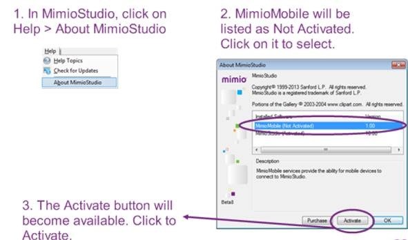 how to connect mimio pad